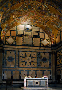 The interior of the Baptistry