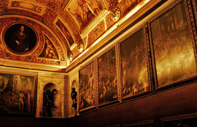 "I mentioned you could take the ""back stage"" tour of the Palazzo Vecchio. If you do, you'll see the Treasure Room pictured above. Standing inside you'll feel as though you are inside a treasure chest. Many of the panels are hidden doors concealing spaces where treasure could be hidden. Other panels, and this is the cool part, conceal hidden passageways to other parts of the Palazzo. If you're travelling to Florence with children, or if you're a kid at heart, you'll love this!"