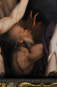 Santa Croce: Detail of Agnolo Bronzino's Descent of Christ to Limbo.
