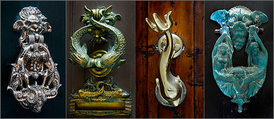 One of the charms of Malta is that many many of the doors have distinctively decorative door knockers. Here's a quick collection. I like these.