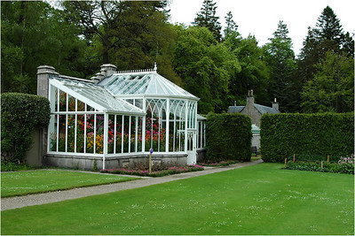 The best Scottish castles all have extensive gardens and many have greenhouses which support them. Here is the small greenhouse that was tour-able. The much larger ones were closed to us.