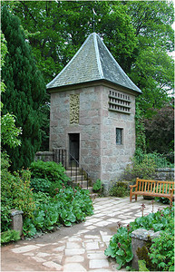 At the corner of the garden was this small tower. There was no explanation as to its function, presumable a watch tower in earlier use.