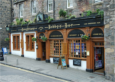 "Near the Grey Friar's Church is this quaint pub which memorializes the story of Grey Friars Bobby. Google it to get the story. It'll bring a tear to the eye. In the back of the church courtyard was a ""Covenanters' Graveyard."" Wait, I'll come back to that."