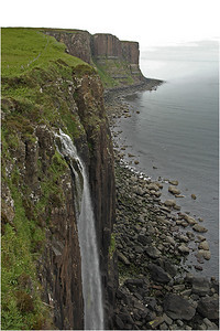 At the northern end of the island at a place called Kilt Rock, there is a stream that flows to the edge of the cliff and falls several hundred feet to the sea below. Very cool!