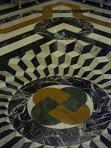 An inlaid marble floor. The craftsmanship is truly a wonder to see.
