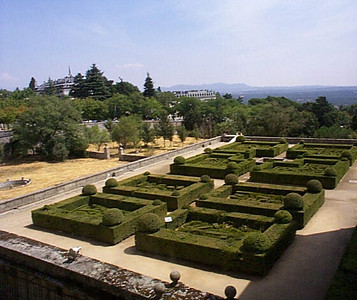 Palatial gardens.