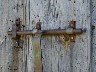 For some reason, I am fascinated by old locks. Here's yet another.