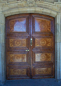 "Plaza Mayor Door. Is this ""old world craftsmanship"" or what?"