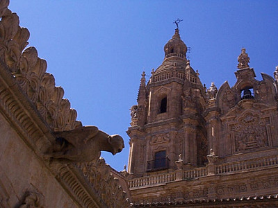 New Cathedral.  There are three primary churches in Salamanca. Historically, when a city builds a new church, it has been built on the foundation of the old. Salamanca is different. The old cathedral still stands, the new church was built next door, and the newest church built down the block. This gives an interesting sense of history and showcases Renaissance and Plateresque architectures.