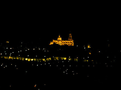 Across a small valley from the old city of Segovia lies a Parador where we stayed. This is the view from our balcony.