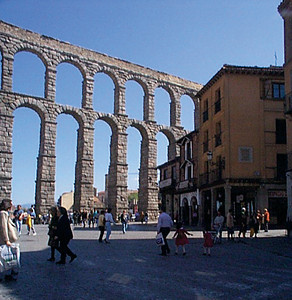 Aqueduct: Built by 1st century Romans, the Aqueduct was in use until about 100 years ago. This has become a symbol of Segovia.