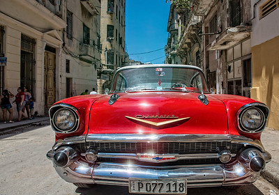"It's true what you've heard. The streets are full of 50's vintage American cars. From a distance, and even up close, many look ""showroom fresh.""   They were originally imported into Cuba before the blockade (embargo) and have been lovingly maintained. Some have Russian engines and transmissions installed when the originals wore out. Some have hand made body parts, seats, windshields and so on.  It's like the farmer's ax. City slicker says, ""Things just don't last anymore."" Farmer replies, ""I don't know about that, sonny. Take this ax ... it's had two new heads and three new handles ... and it's as good as it ever was new.""  So vintage American cars in Cuba.   There are also lots of Russian Lada's. And increasingly Chinese and Japanese cars too. Imported, first to companies in latin America, and then re-imported to Cuba to get around the embargo. It's complicated."