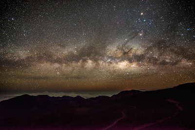 Milky Way from the summit of Haleakalā.