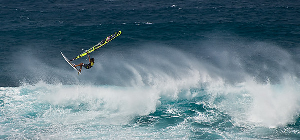 And sometimes, we saw a lone windsurfer flying the elements. My guess is that these were great athletes: Strength, balance, agility and a keen sense for the elemental forces they were exploiting.