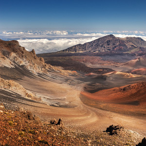 This was taken from the summit of Mt Haleakala, about 10,000 feet. We've been there before and it's always stunning.