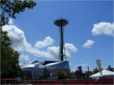 "Classic Brochure Shot: EMP has changed the ""skyline"" of the Seattle Center."