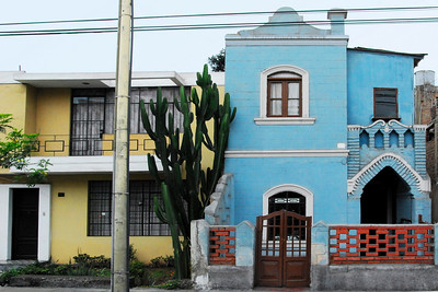 Houses in the better neighborhoods ran the gamut from mansions to more modest row houses. And Peruvians love their colors. Many of the houses were painted with bright colors; blues, yellows, burnt reds. It gives the city a picturesque, if over saturated, appearance.