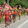 Colorful Indian pilgrims