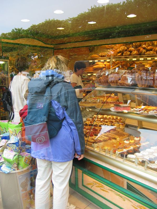 Bakeries are everywhere, and we can't keep away.  Bayeux, France.
