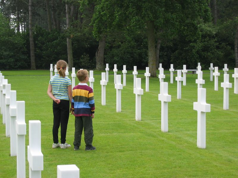 K&J at the American Cemetery.