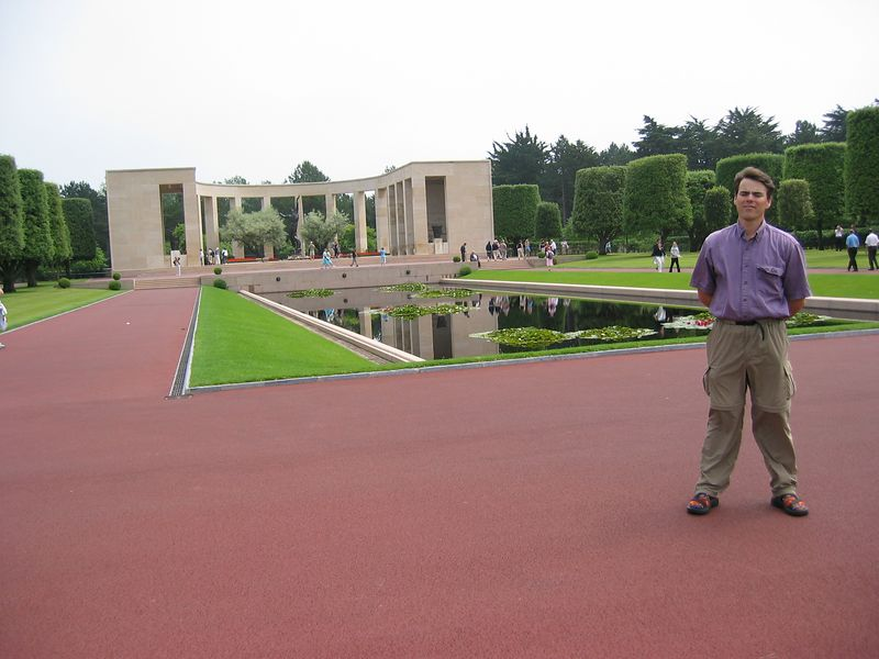 Me at the American Cemetery.