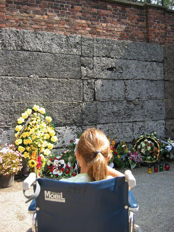 Wall of death (via firing squad) - Auschwitz