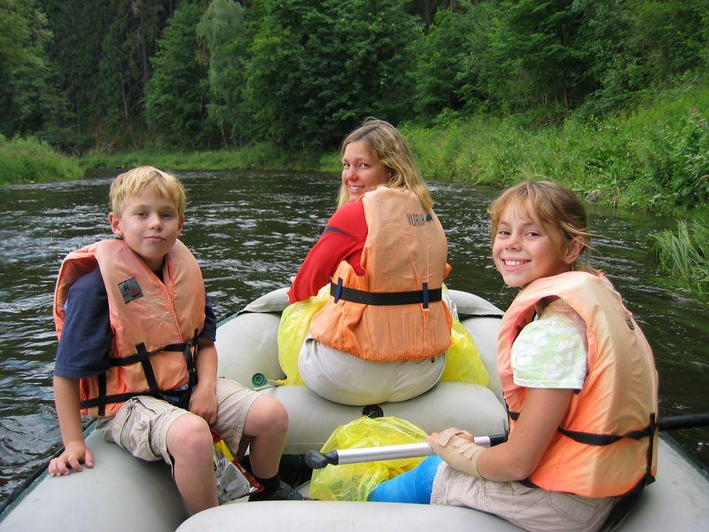 Rafting the Vltave River in Cesky Krumlov