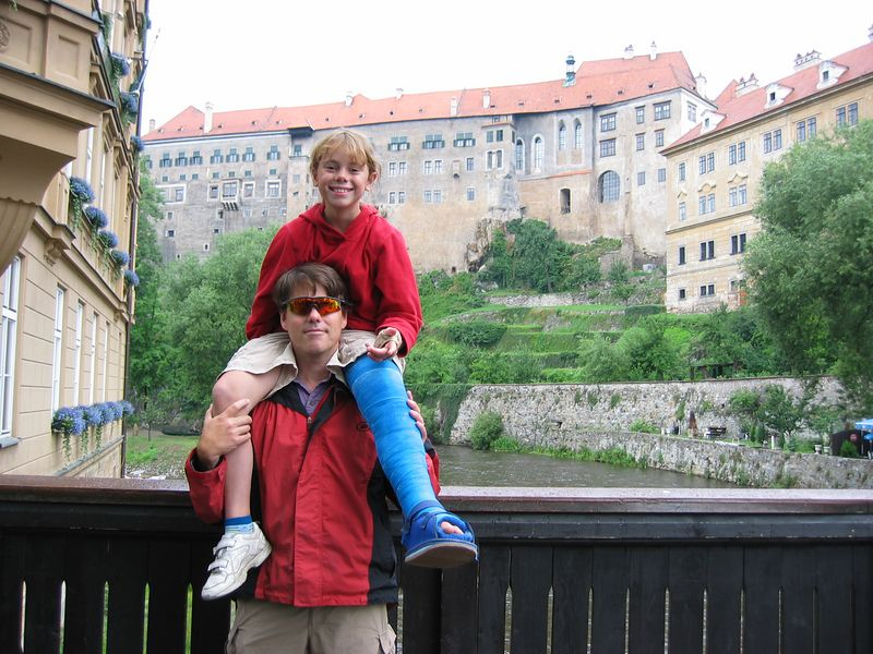 Over looking the Vltava River in Cesky Krumlov