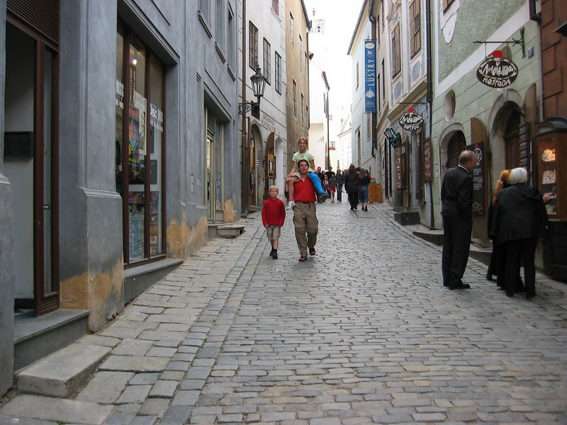 Walking the streets in Cesky Krumlov