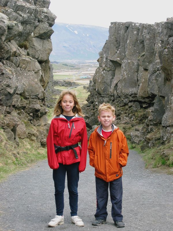 This is where the North American Plate and the Eurasia plate meet.