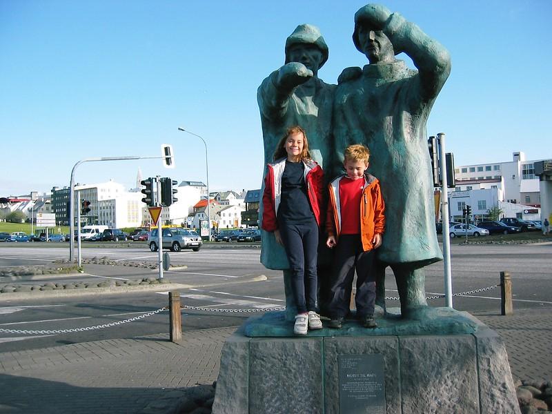 Downtown Reykjavik, Iceland, near the harbor.