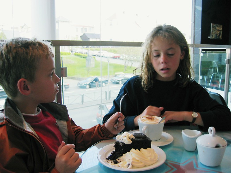 Just the thing on a cold day in Iceland - ice cream.