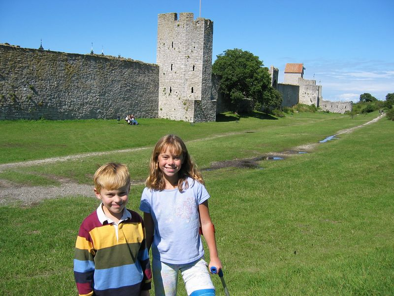 Outside the city walls (Visby, Gotland Island)