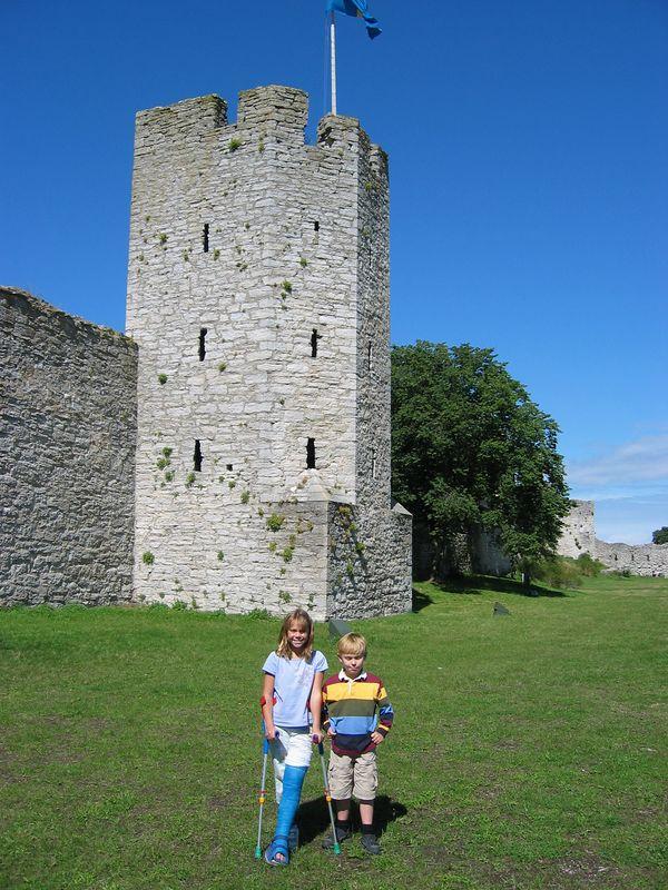 Outside the city walls (Visby, Gotland Island)
