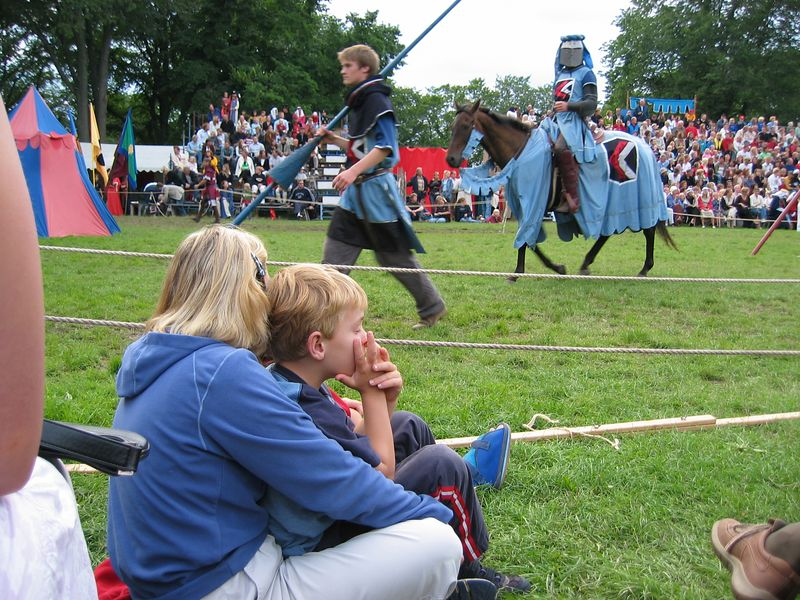 At the tournament, Medieval week, Visby