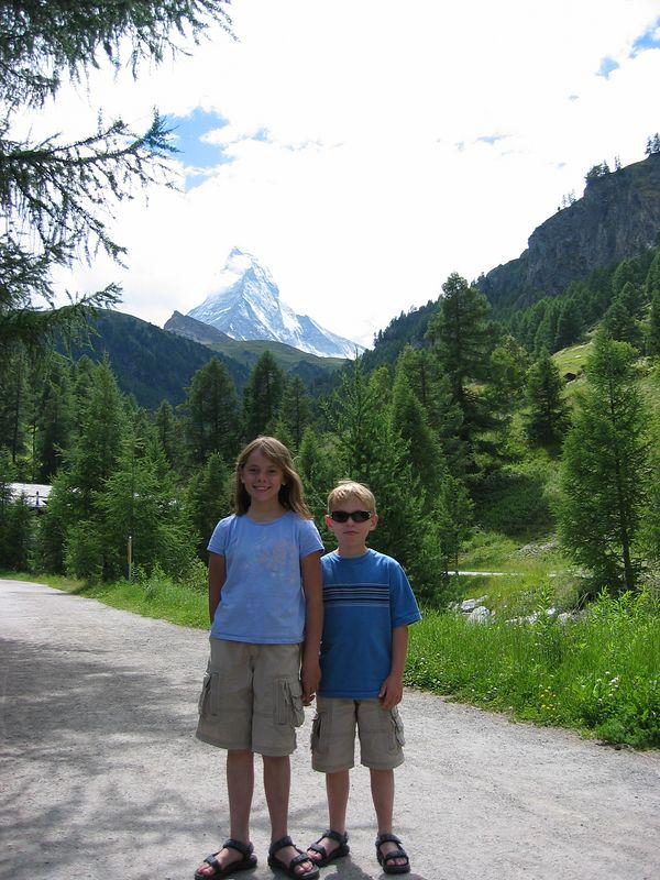 An attempt to get the Matterhorn in the background.  Zermatt.