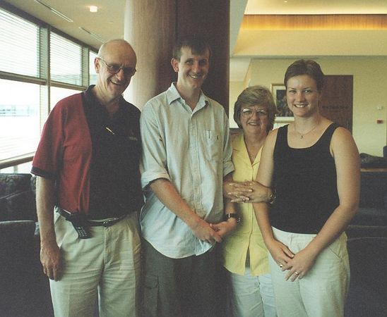 Andrew Taylor, Craig, Pennie Taylor, and Ange