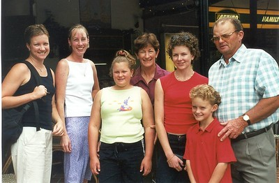 Ange, Therese Cosgrove, Lucy Britnell, Clare Britnell, Rebecca Britnell, Nick Britnell and Owen Britnell
