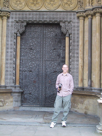 D0044.JPG - 10/05/01 1:59pm   Craig at the North Door.