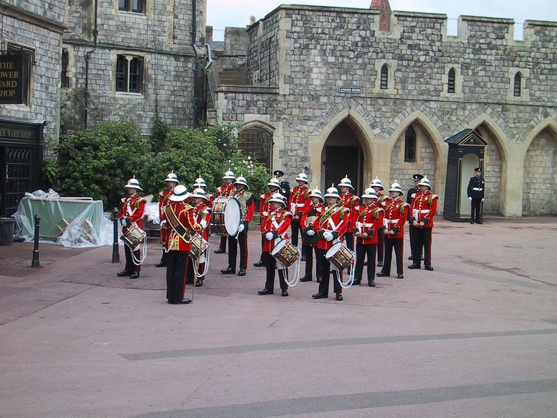 D0136.JPG - 15/06/01 11:18am   The band during the Changing of the Guard.
