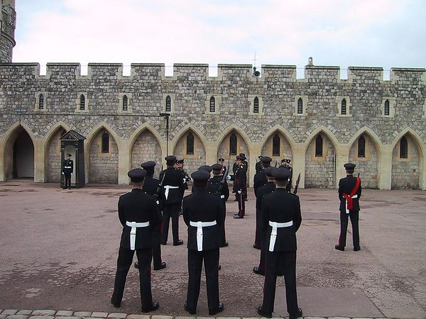 D0139.JPG - 15/06/01 11:19am   The Guard in front of the Guard Room.