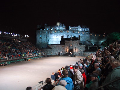 D0227.JPG - 11/08/01 10:15pm   The crowd gets settled in for the start of the 10:30pm performance of the Tattoo.