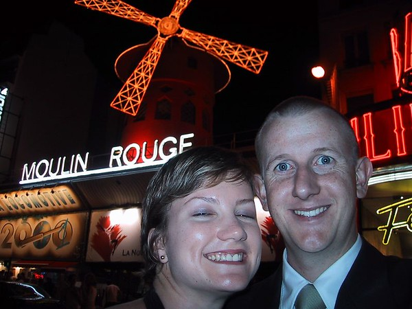 D0247.JPG - 25/08/01 12:34am   Self-portrait in front of the Moulin Rouge after seeing a fantastic show.