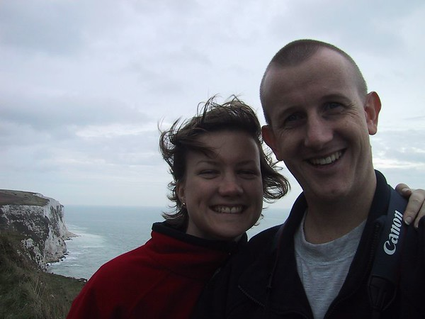 D0309.JPG - 29/09/01 12:43pm   Self-portrait on the white (and windy!!) cliffs of Dover.