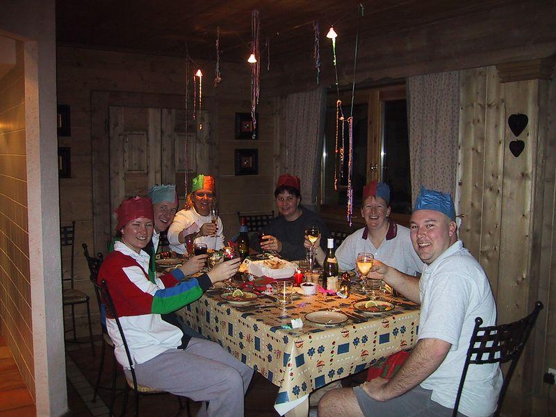 D0434   Christmas dinner.