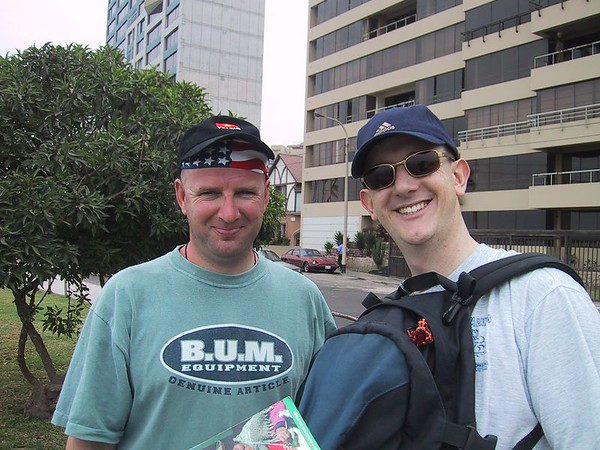 D0477   Paul Tuckwood-Smith and Craig at Miraflores in Lima, Peru.