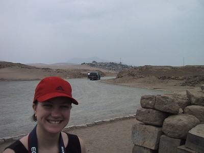 D0485   Ange at Pachacamac ruins.