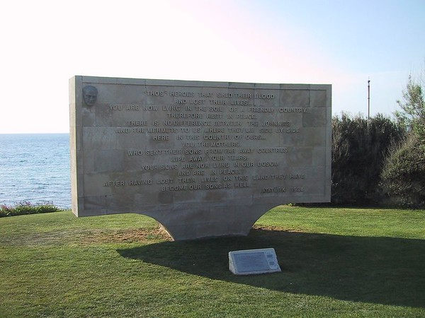 D0569   Monument at Anzac Cove at Gallipoli.