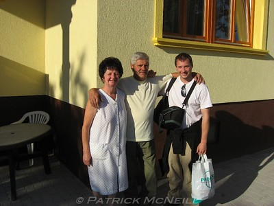 Tamas' parents at their house in the town of Putnok