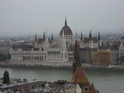 The very famous architecture of the parliament building in Budapest